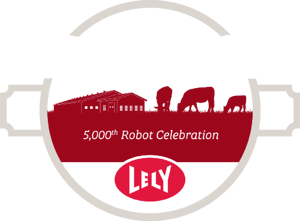 Lely 5000th Robot Celebration logo